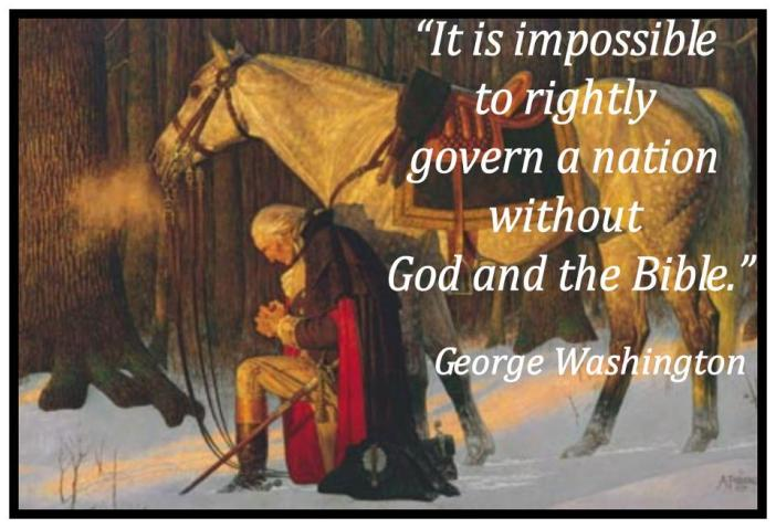 Image result for george washington praying