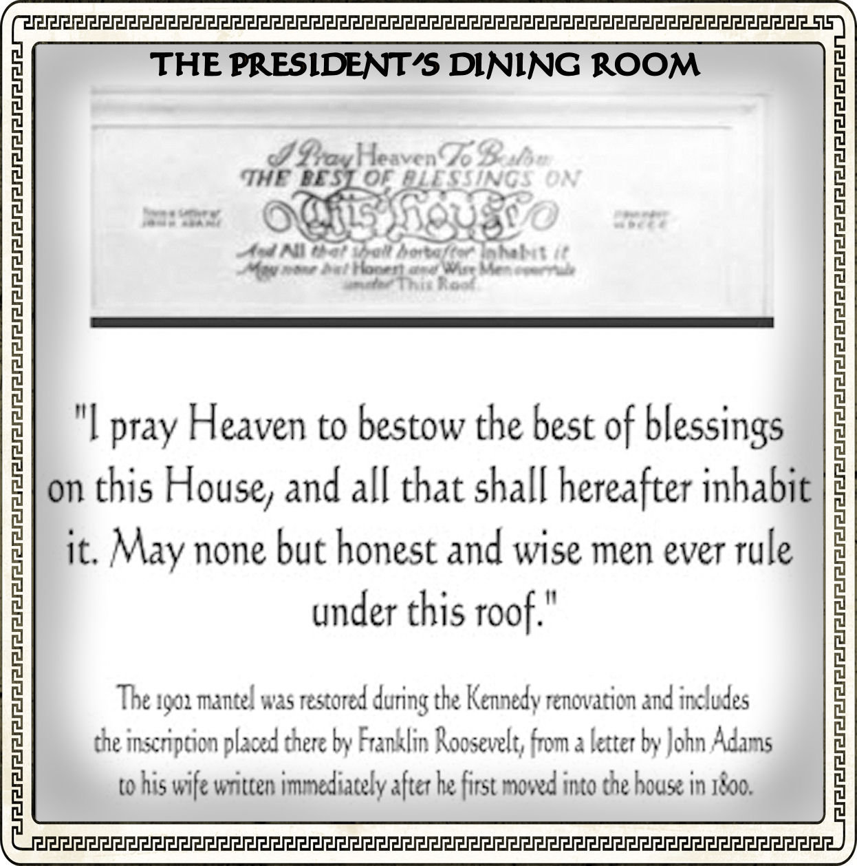 As The Nation Grew So Did Invitation List To Official Functions At White House Room That Was