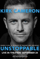 Provident Films brings Kirk Cameron back to movie theaters September 24 with the follow-up to his record-breaking theatrical event, Monumental. In UNSTOPPABLE, a brand-new documentary, Kirk takes you on a personal and inspiring journey to better understand the biggest doubt-raiser in faith: Why? Kirk goes back to the beginning—literally—as he investigates the origins of good and evil and how they impact our lives … and our eternities. Reminding us that there is great hope, UNSTOPPABLE creatively asks—and answers—the age-old question: Where is God in the midst of tragedy and suffering? In addition, Kirk will host a special, LIVE pre-movie event from Liberty University!