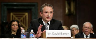 David Barron testifies before the Senate Judicary Committee during his nomination hearing, Nov. 20, 2013 in Washington, DC.