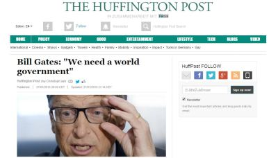 Gates wants a world government.